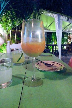 Cenzontle: Gazpacho in three layers