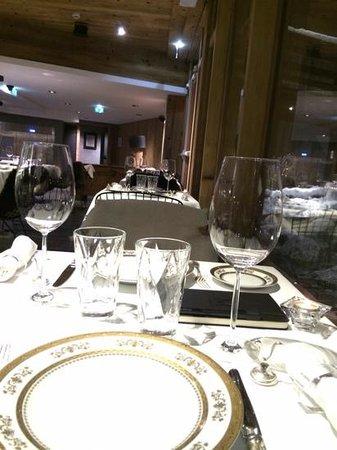 Le M de Megeve: le restaurant gastronomique