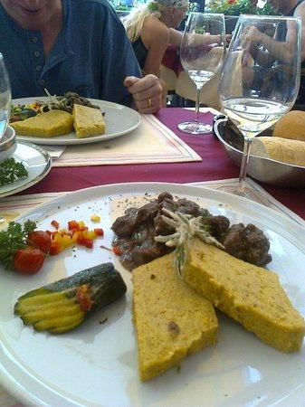 Hotel Cima d'Oro: Delizie con polenta di Storo