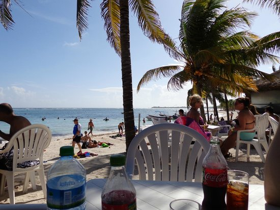 Lol-Ha on Akumal Main Bay: View from our table at lunch