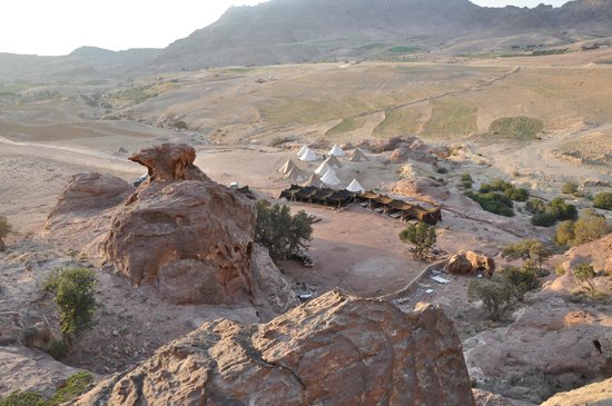 The Rock Camp - Petra: The camp from on-high
