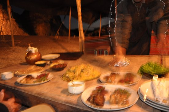 The Rock Camp - Petra: The excellent dinner meal