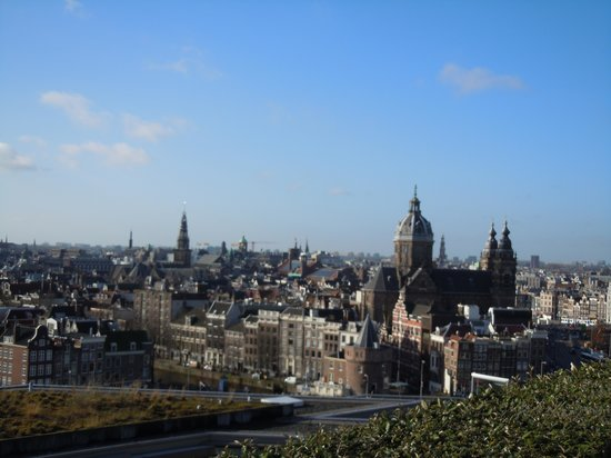 DoubleTree by Hilton Hotel Amsterdam Centraal Station : View from Sky Lounge terrace