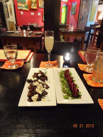 Casa Picasso: Roasted Mushrooms and Beets with a French 75