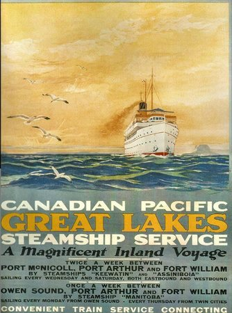 The SS Keewatin: An early Travel Poster 1920's