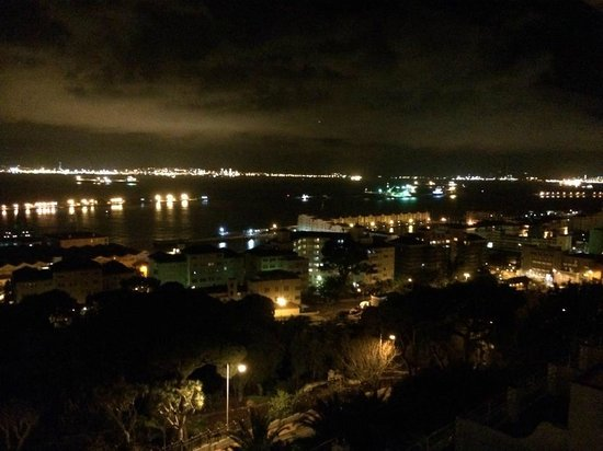 Rock Hotel Gibraltar: View from room at night