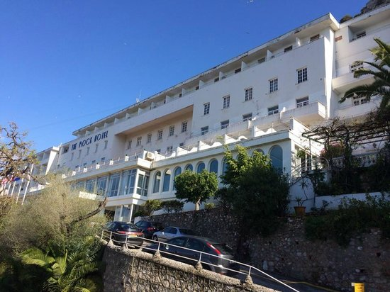 Rock Hotel Gibraltar : Hotel from outside