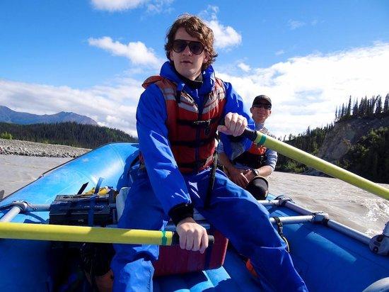 Copper Oar Rafting Day Trip: that's me on the oars