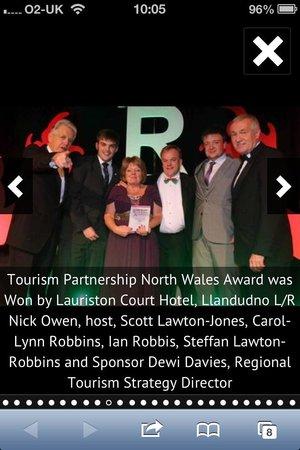 Lauriston Court Hotel: Toursim Partnership Award 2013