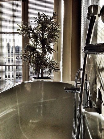 Richmond Hill Hotel: Bathroom with a view in the Terrace Suite
