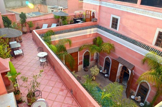 Riad Alili: Terrasse du 1er niveau