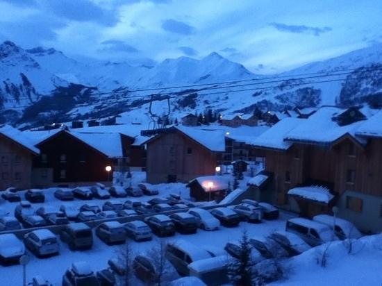 Résidence Goélia Les Chalets de la Toussuire : vue du balcon