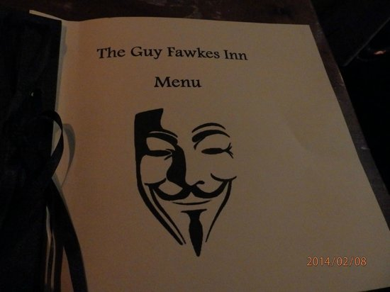 Guy Fawkes Inn: Menu