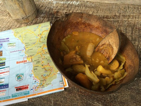 Victoria Falls: Vegetarian food from the local garden