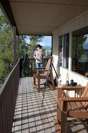 Signal Mountain Lodge : Spacious enough to set up two tripods