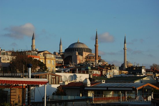 Ferman Hotel: Hagia Sofia from the roof