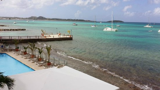 Le Beach Hôtel: View from 2nd floor room