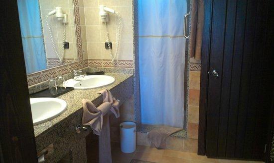 Hotel Riu Touareg: Bathroom with elephant towel