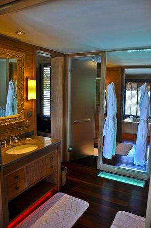 Bath Inside Overwater Bungalow Four Seasons Resort Bora