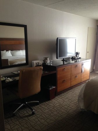 DoubleTree by Hilton Hotel Pittsburgh-Green Tree: TV and Desk