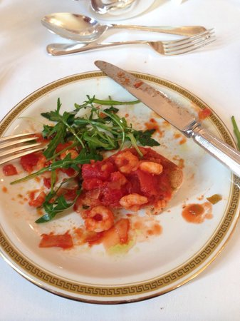 The Mount Hotel : My gorg half eaten prawn starter, so nice I nearly licked the plate x