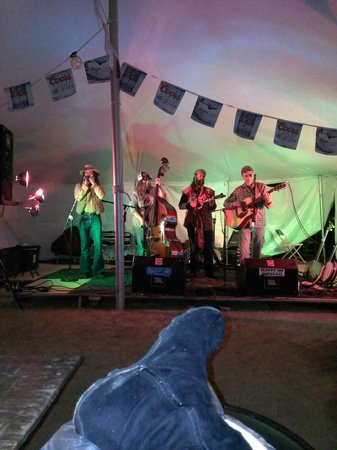 Oko's Outpost Inc.: Band Outside Under our Beer Tent Cranfest 2013