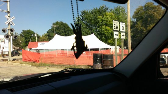 Oko's Outpost Inc.: View of BeerTent From Street