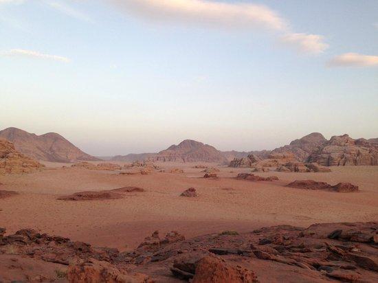 Wadi Rum Green Desert: the view