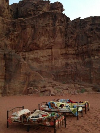 Wadi Rum Green Desert: bedroom for the night (through choice)