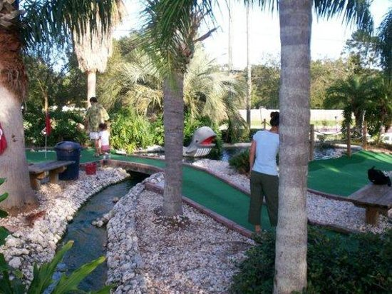 Ace Golf Ranges: Mini-golf bridge