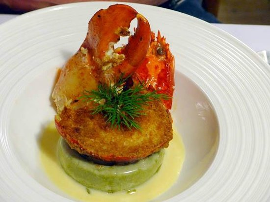 Grand Hotel Les Endroits : Package Dinner - Gratinated half lobster!
