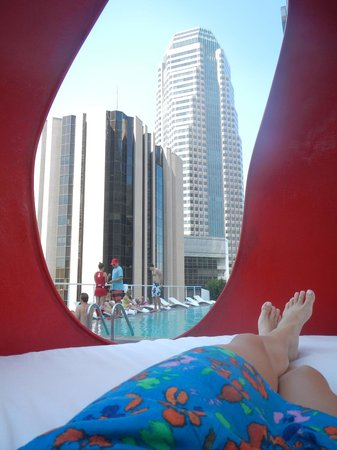 The Standard Downtown: View from the waterbed pod