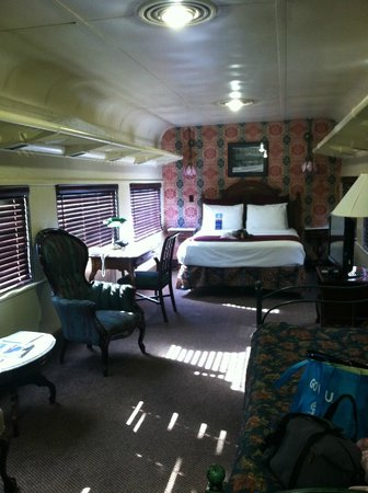 Chattanooga Choo Choo: View of train room