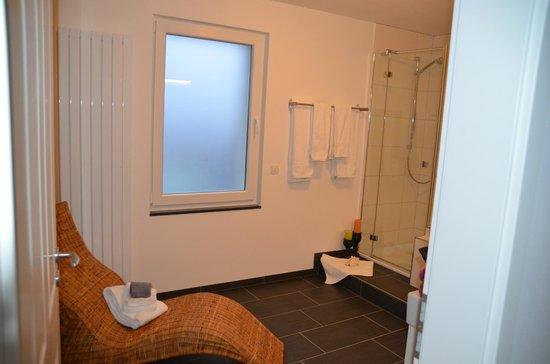 Haus am See B&B: Badezimmer Bleibtreusee