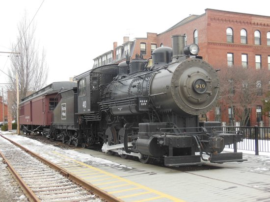 Lowell National Historical Park: A vintage train on display at the park