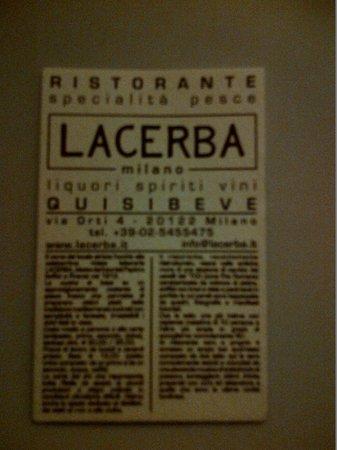 Lacerba: biglietto da visita