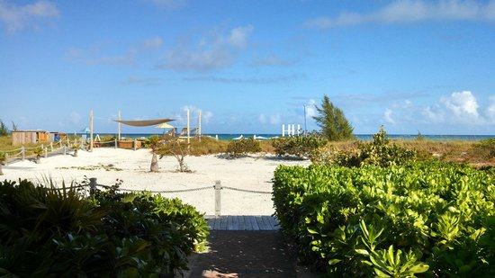 """Beach House Turks & Caicos : View from """"Coral"""" a 1st floor Oceanfront Deluxe Room. Eastern side of the hotel."""