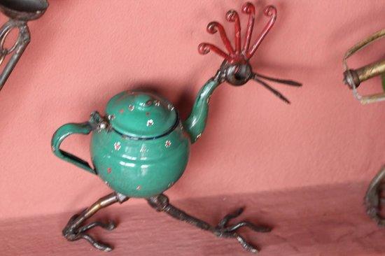 Riad Al Karama : les jolies sculptures sur la terrasse