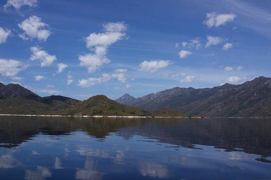 Pedder Wilderness Lodge: Out on Lake Peddar