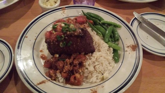 The Blue Hound Cookery: Sirloin from Cliff's with Crawfish etoufe. This was the best steak I ever had.