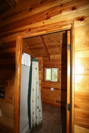 Bryce Canyon Country Cabins: The bathroom is small, but clean and functional.