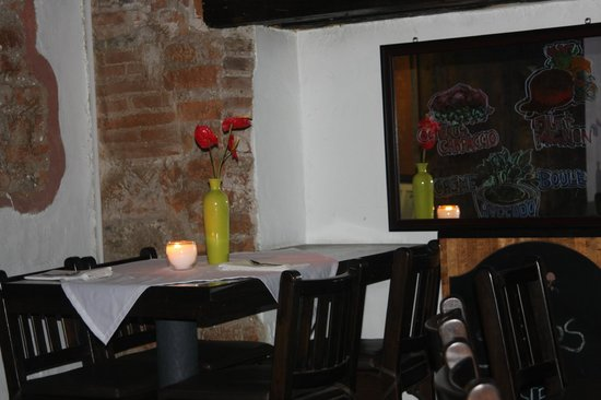Dining area in bar at Michos