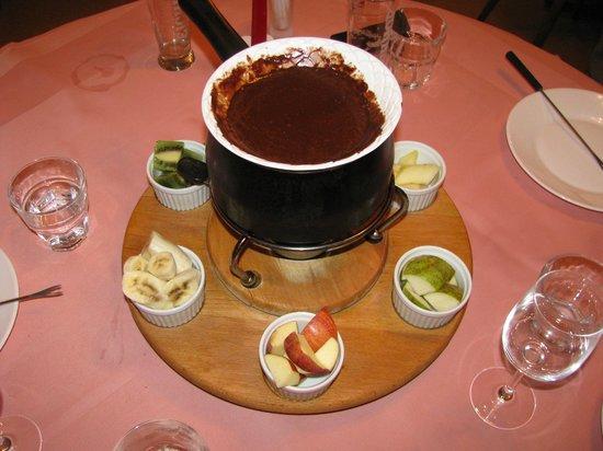 Restaurant Fritschi: Chocolate Fondue