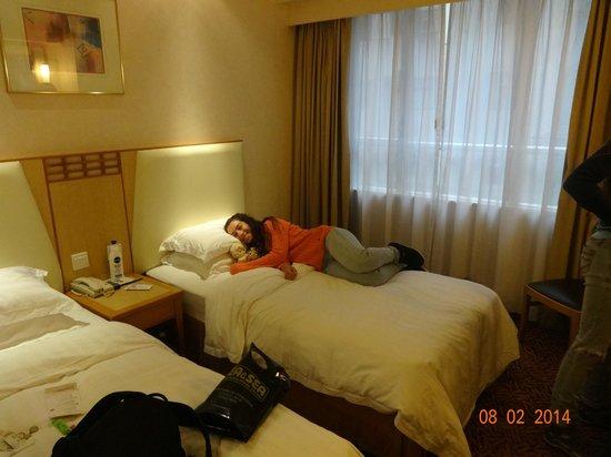 GDH Hotel: Dormitorio normal, buen baño