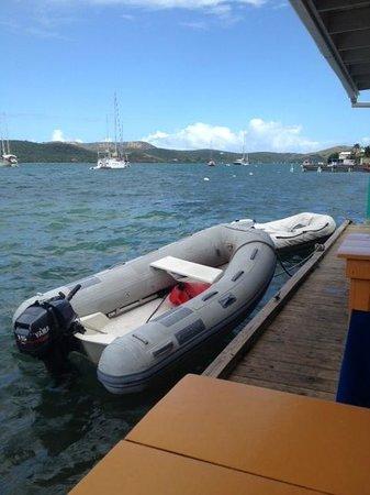 Dinghy Dock : Dinghys on a choppy day