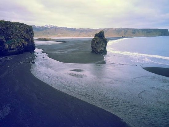 Dyrholaey: Beach view