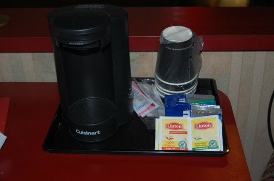 Pocono Palace Resort: coffee and tea makers in the rooms