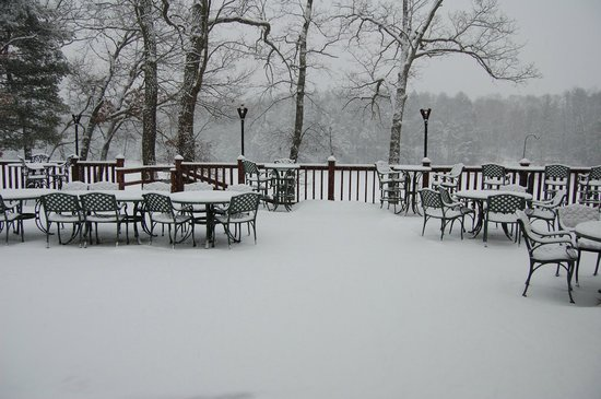 Pocono Palace Resort: view from our breakfast table