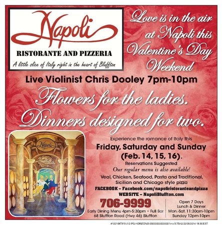 Celebrate Valentine S Day Weekend Picture Of Napoli Ristorante And