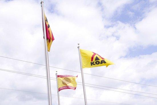 New Bern KOA: Proudly waving our Colors